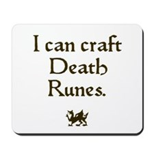 i can craft death runes Mousepad