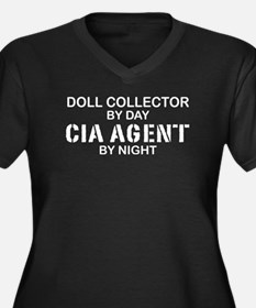 Doll Collector CIA Agent Women's Plus Size V-Neck