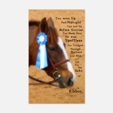 All For A Ribbon Horse Rectangle Decal
