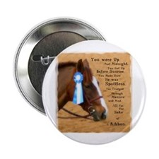 """All For A Ribbon Horse 2.25"""" Button"""