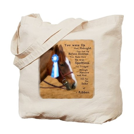 All For A Ribbon Horse Tote Bag
