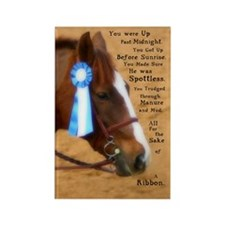 All For A Ribbon Horse Rectangle Magnet (100 pack)