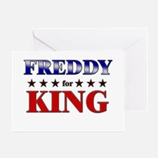 FREDDY for king Greeting Card
