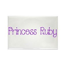 Princess Ruby Rectangle Magnet
