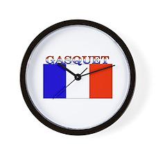 Gasquet France Flag Wall Clock