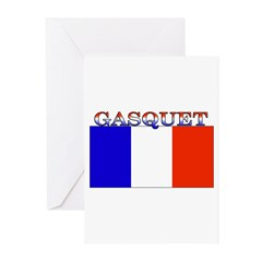 Gasquet France Flag Greeting Cards (Pk of 10)