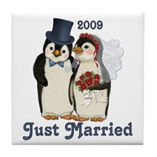 Just Married 2009 Tile Coaster