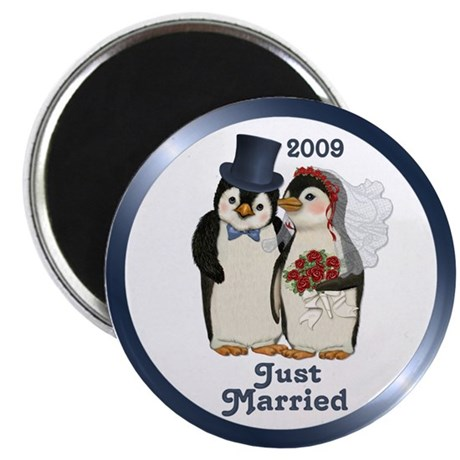 """Just Married 2009 2.25"""" Magnet (10 pack)"""