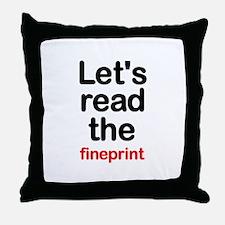 Fineprint Throw Pillow