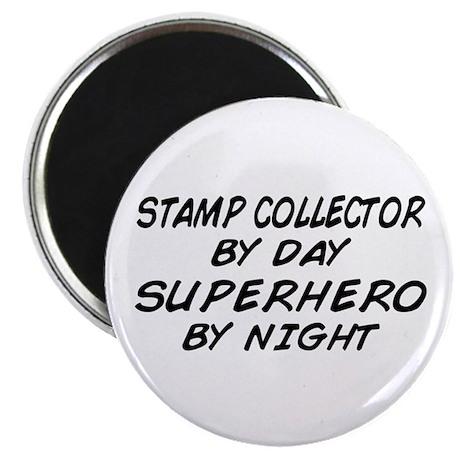 Stamp Collector Superhero Magnet