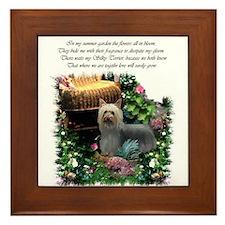 Silky Terrier Art Framed Tile