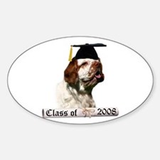 Clumber Grad 08 Oval Decal
