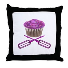 Cupcake and Crossbeaters Throw Pillow