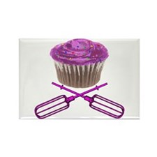 Cupcake and Crossbeaters Rectangle Magnet (100 pac