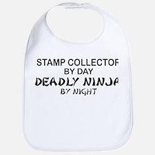 Stamp Collector Deadly Ninja Bib