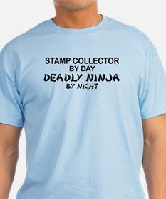 Stamp Collector Deadly Ninja T-Shirt