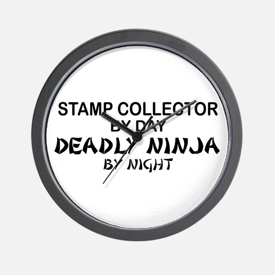 Stamp Collector Deadly Ninja Wall Clock