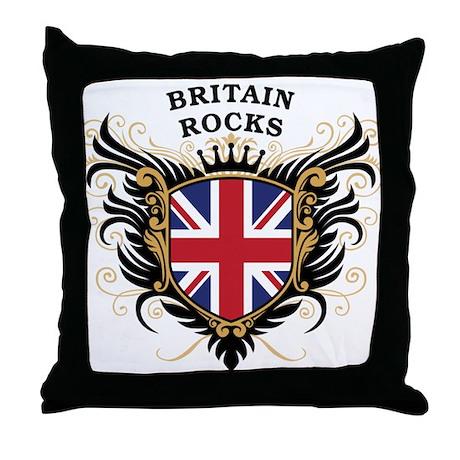 Britain Rocks Throw Pillow