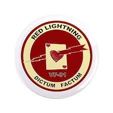 """VF 91 Red Lightning 3.5"""" Button"""