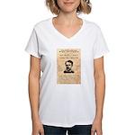 Curly Bill Brocius Women's V-Neck T-Shirt