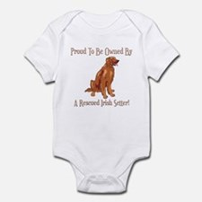Proudly Owned By A Rescued Irish Setter Infant Bod