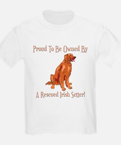 Proudly Owned By A Rescued Irish Setter T-Shirt