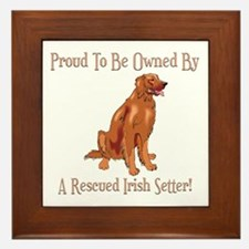 Proudly Owned By A Rescued Irish Setter Framed Til