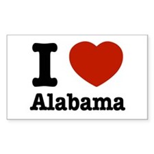 I love Alabama Rectangle Decal