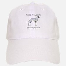 Proudly Owned By A Rescued Greyhound Baseball Baseball Cap