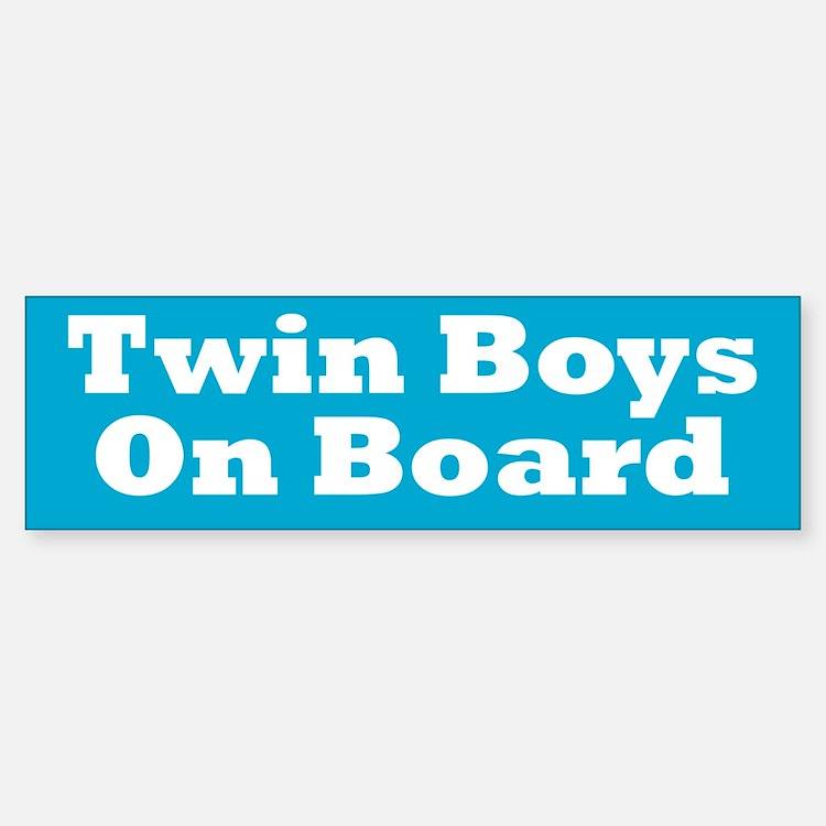Twin Boys On Board - Twin Bumper Bumper Bumper Sticker