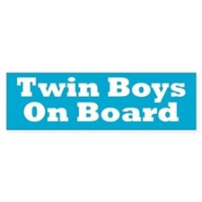 Twin Boys On Board - Twin Bumper Bumper Sticker