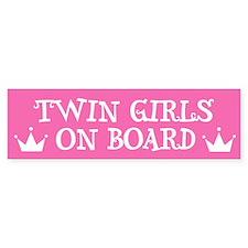 Twin Girls On Board - Twin Bumper Bumper Bumper Sticker
