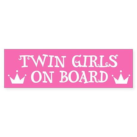 Twin Girls On Board - Twin Bumper Sticker