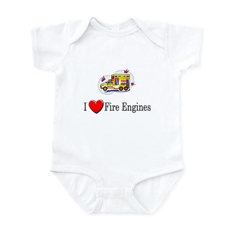 I Love Fire Engines Infant Bodysuit