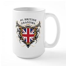 Number One British Grandma Mug