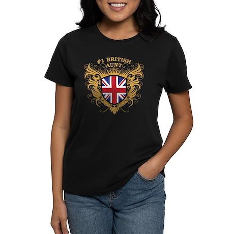 Number One British Aunt Women's Dark T-Shirt