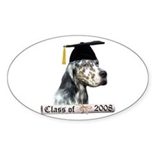 English Setter Grad 08 Oval Decal