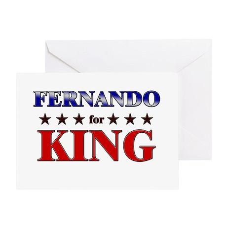 FERNANDO for king Greeting Card