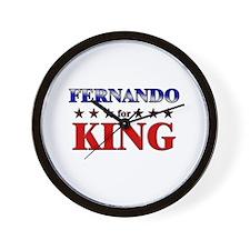 FERNANDO for king Wall Clock