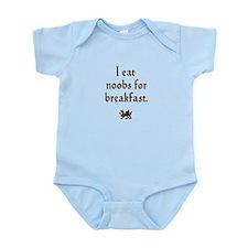 i eat noobs for breakfast Infant Bodysuit