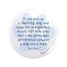 """Twain Dog 3.5"""" Button"""
