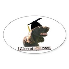 Field Spaniel Grad 08 Oval Decal