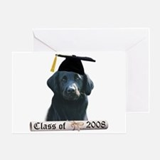 Flat-Coat Grad 08 Greeting Card