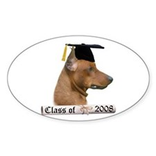 Pinscher Grad 08 Oval Decal
