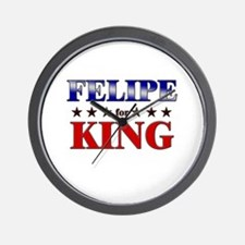 FELIPE for king Wall Clock