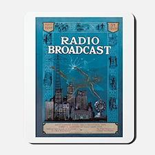 Radio Broadcast Blue Mousepad