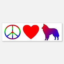 Peace, Love, Groenendael Bumper Bumper Bumper Sticker