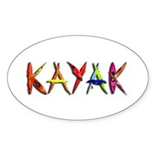 Kayak Graffiti Decal