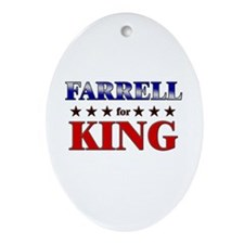 FARRELL for king Oval Ornament