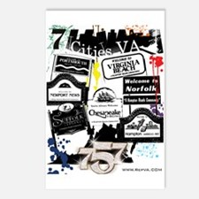 7 Cities Postcards (Package of 8)